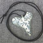 large silver sparkly heart necklace<br />£25