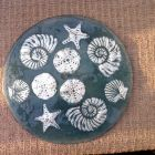 hand painted shells platter<br />£120