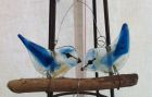2 blue birds on a twig with wire hanger<br />£40
